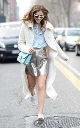 minifalda metalizada