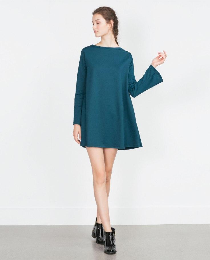 vestido con manga farol